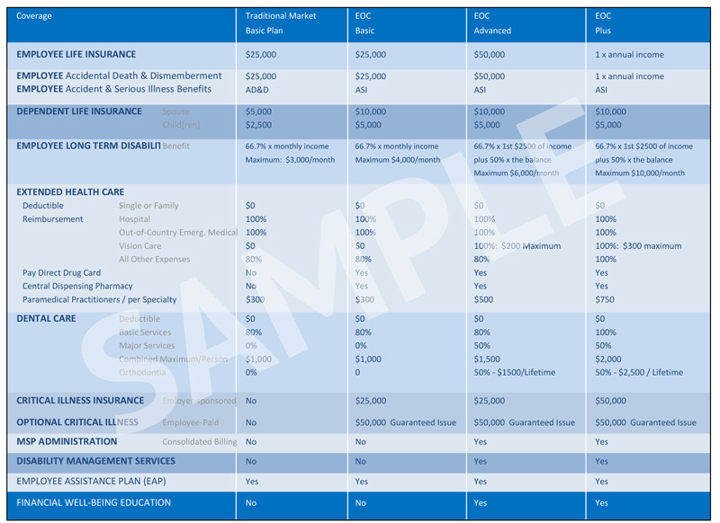 Dupuis Langen Group - Sample Plan